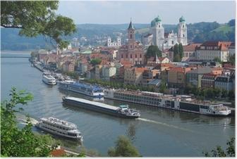 Passau, City of Three Rivers, Bavaria, Germany. Poster