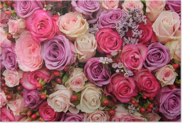 Poster Babykamer Pastel : Poster pastel bruiloft bloemen u2022 pixers® we leven om te veranderen