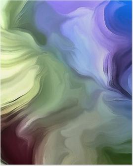 Poster Pastel kleuren abstract