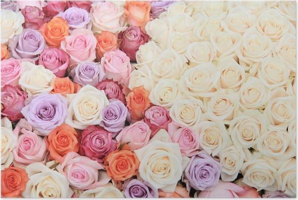 Poster Babykamer Pastel : Poster pastel rose bruiloft bloemen u2022 pixers® we leven om te