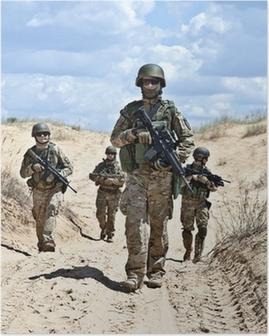 Patroling the desert Poster