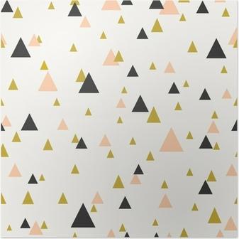 Póster Patrón abstracto sin fisuras geométrica.