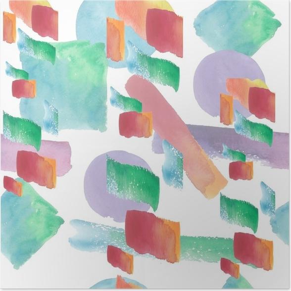 Póster Patrón de ilustración colorida textura en un estilo de ...