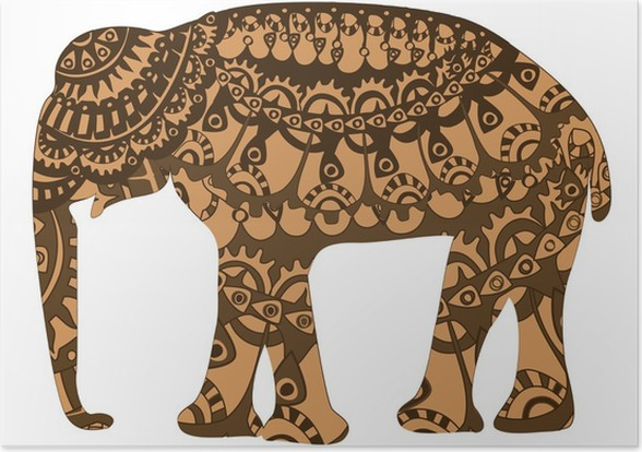 patterned elephant poster pixers we live to change