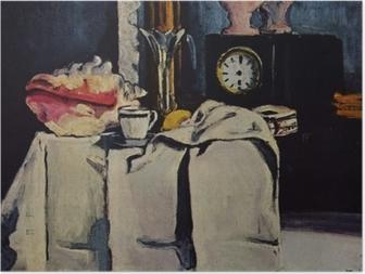 Poster Paul Cézanne - De zwart marmeren klok