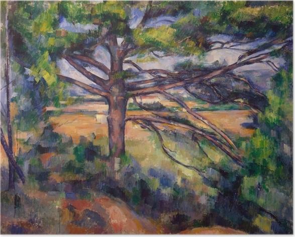 Póster Paul Cézanne - El pino grande - Reproducciones