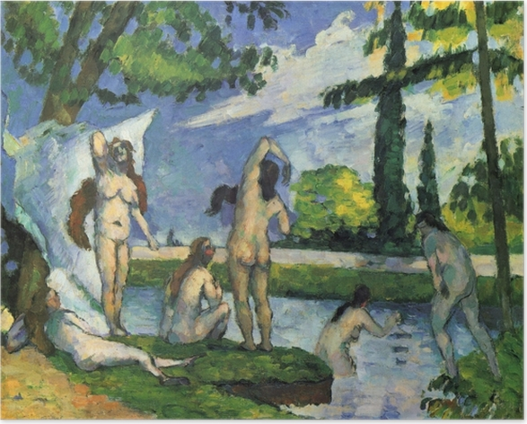 Póster Paul Cézanne - Estudio para los bañistas - Reproducciones