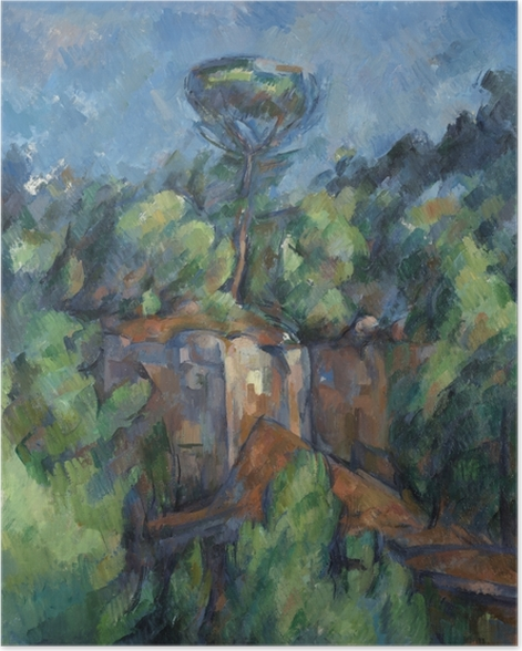 Poster Paul Cézanne - La carrière de Bibémus - Reproductions