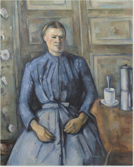 Poster Paul Cézanne - La Femme à la cafetière - Reproductions