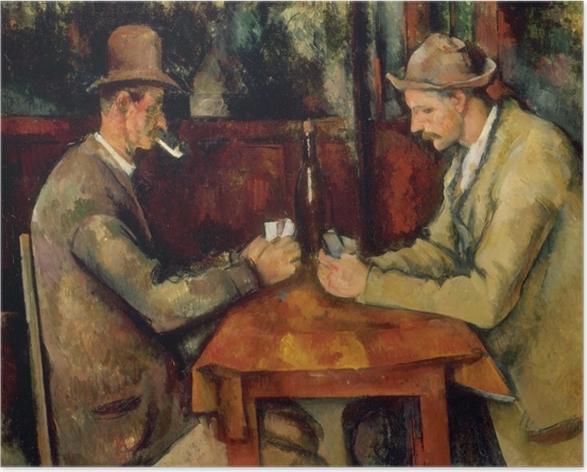 Poster Paul Cézanne - Les Joueurs de cartes - Reproductions