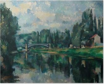 Póster Paul Cézanne - Los bancos del Marne en Creteil