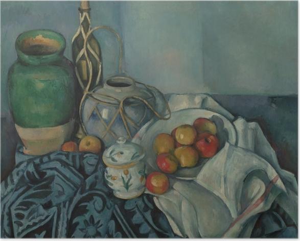 Póster Paul Cézanne - Naturaleza muerta con manzanas - Reproducciones