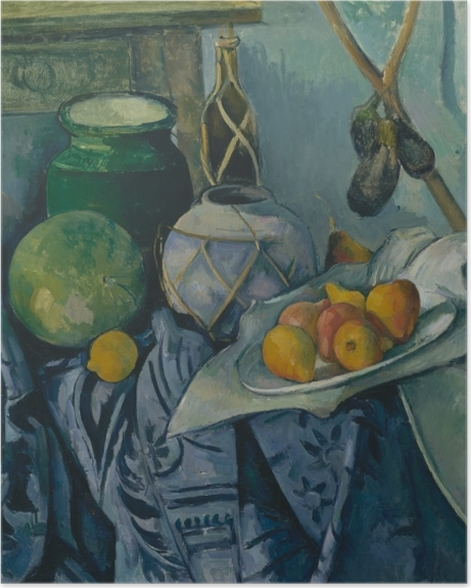 Poster Paul Cézanne - Nature morte aux aubergines - Reproductions