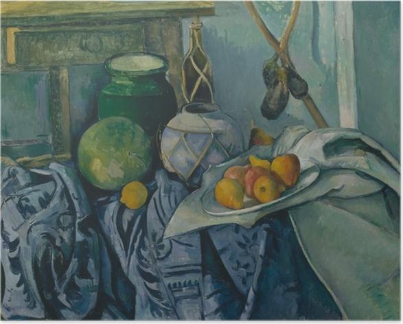 Poster Paul Cézanne - Nature morte aux aubergines - Reproductions