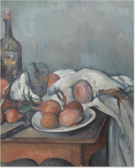Poster Paul Cézanne - Nature morte aux oignons - Reproductions