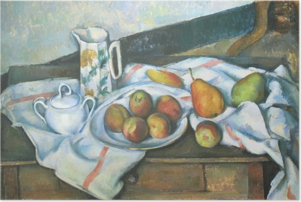 Paul Cézanne - Still Life with Peaches and Pears Poster - Reproductions