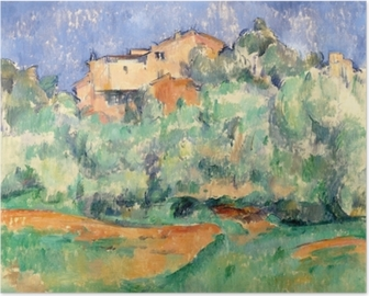 Paul Cézanne - The House at Bellevue Poster
