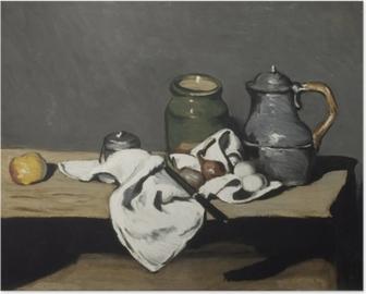 Póster Paul Cézanne - Todavía vida con una caldera