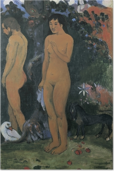 Poster Paul Gauguin - Adam en Eva - Reproducties