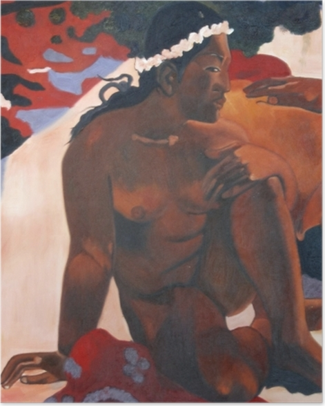 Poster Paul Gauguin - Aha oe feii? (Eh quoi ! tu es jalouse ?) - Reproductions