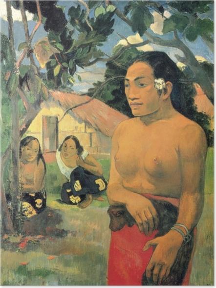 Póster Paul Gauguin - E haere oe i hia? (¿A dónde vas?) - Reproducciones