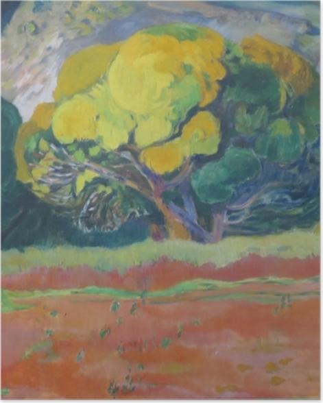 Poster Paul Gauguin - Fatata te mouà (Au pied de la montagne) - Reproductions