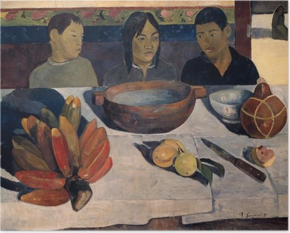 Póster Paul Gauguin - La comida (el banano) - Reproducciones