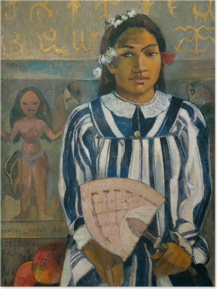 Poster Paul Gauguin - Merahi metua no Tehamana (Teha'amana a plusieurs parents) - Reproductions