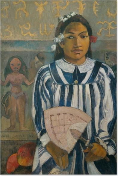 Paul Gauguin - Merahi metua no Tehamana (Tehamana Has Many Parents) Poster - Reproductions