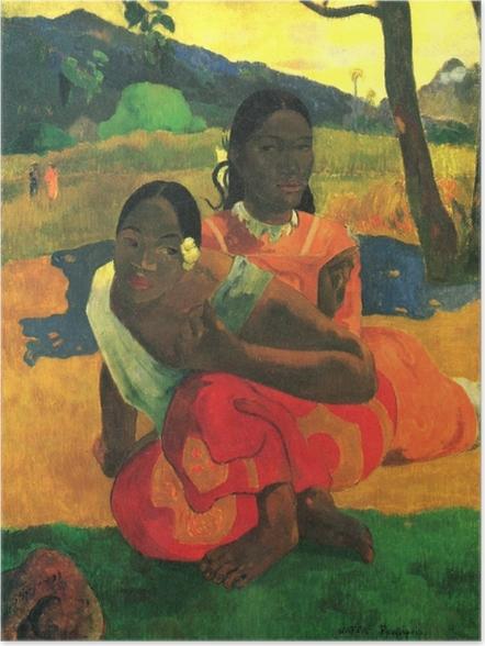 Poster Paul Gauguin Nafe Faa Ipoipo Wanneer Ga Je Trouwen