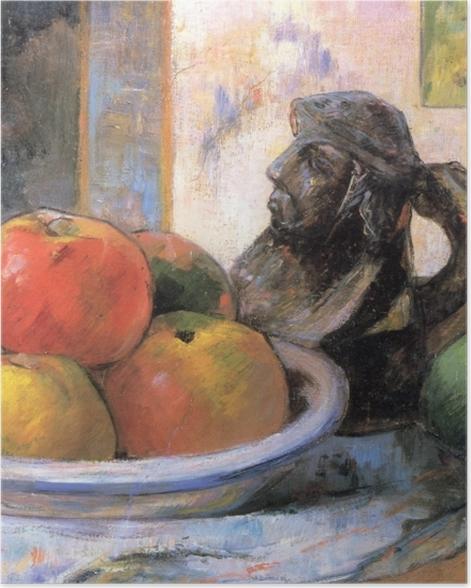Poster Paul Gauguin - Nature morte aux pommes, poire et cruche en céramique - Reproductions