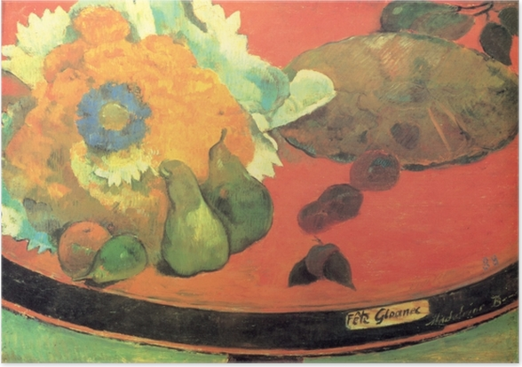 Poster Paul Gauguin - Nature morte Fête Gloanec - Reproductions