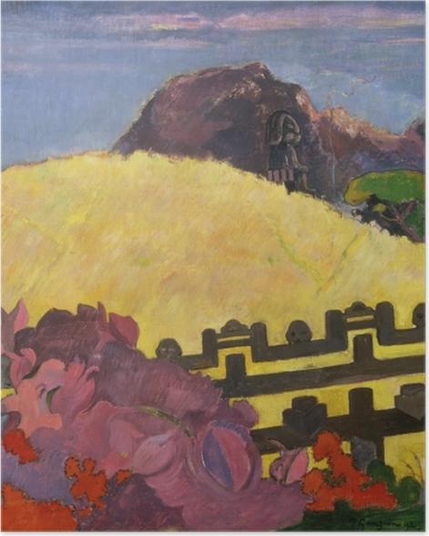 Poster Paul Gauguin - Parahi Te Marae (La Montagne Sacrée) - Reproductions