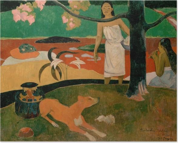 Póster Paul Gauguin - Pastoral de Tahití - Reproducciones