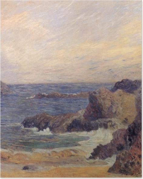 Poster Paul Gauguin - Rochers au bord de la mer - Reproductions
