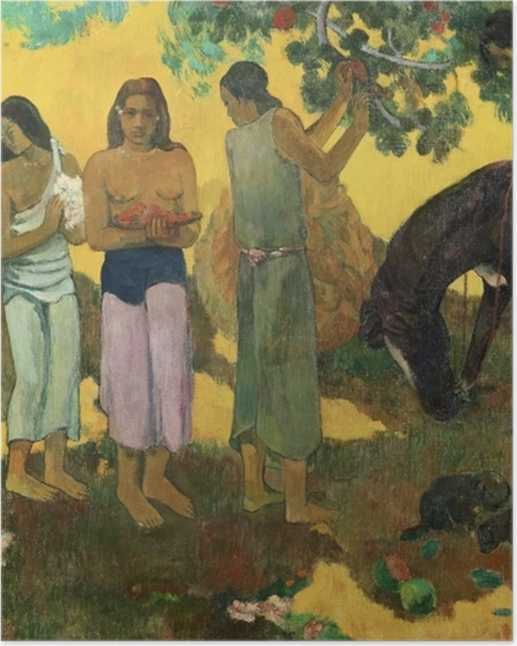 Poster Paul Gauguin - Rupe Rupe (La cueillette des fruits) - Reproductions