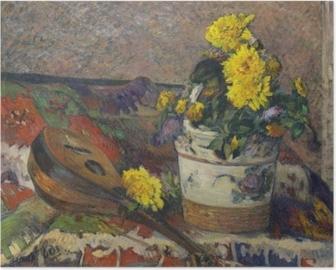 Poster Paul Gauguin - Stilleven met een mandoline