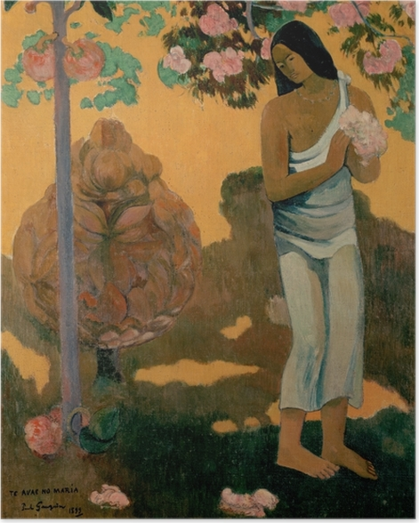 Poster Paul Gauguin - Te Avae No Maria (Le mois de Marie) - Reproductions