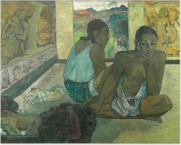 Poster Paul Gauguin - Te rerioa (le rêve) - Reproductions