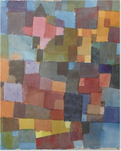 Poster Paul Klee - Architecture picturale - Reproductions