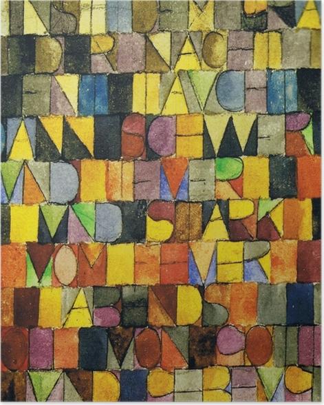 Poster Paul Klee - Jadis surgi du gris de la nuit - Reproductions