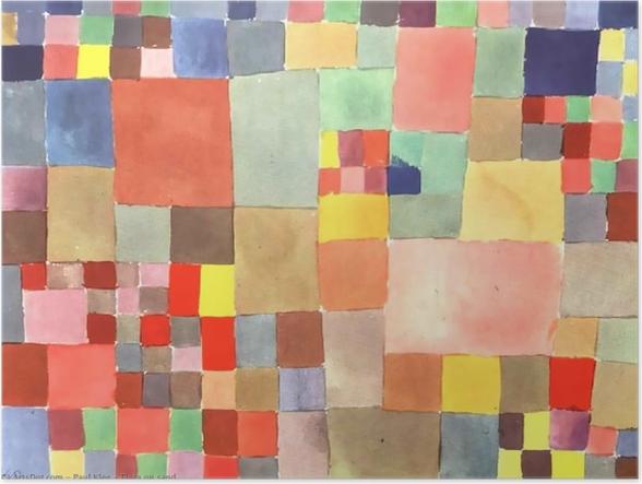Poster Paul Klee - La Flore sur sable - Reproductions