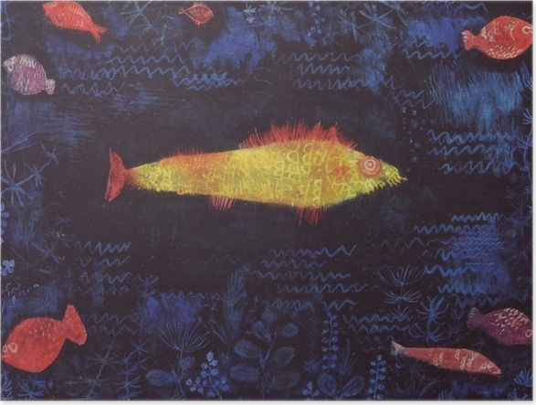 Poster Paul Klee - Le poisson rouge - Reproductions