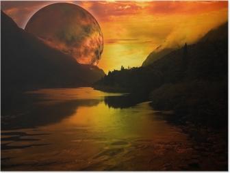 paysage fantastique Poster