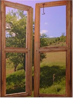 Poster Paysage vu à travers une fenêtre
