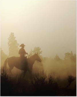 Peaceful Cowboy Poster