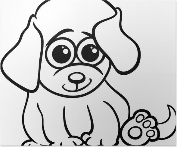 Póster Perrito bebé para colorear de dibujos animados • Pixers ...