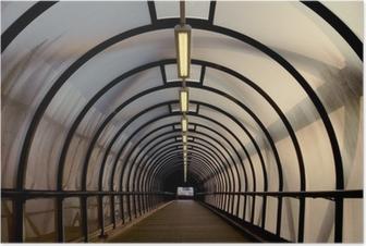 Poster Perspex tunnel loopbrug