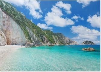 Petani beach, Kefalonia, Greece Poster