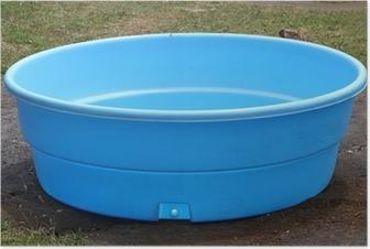 petite piscine en plastique Poster